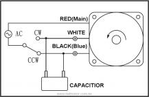 Single phase motor 110V / 220V Reverse