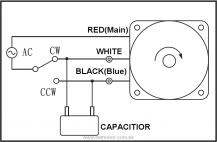 Single phase motor 110V / 220V Forward